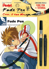 Pentel, Fude Pen Kit Fude Pen punta larga con tutorial e ricarica