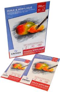 Canson, Huile e Acrylique Blocco A3 Huile e Acrylique