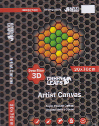 Green Leaf, Canvas 3D Telaio mis. 60X80