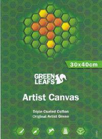 Green Leaf, Canvas Telaio mis. 40X40